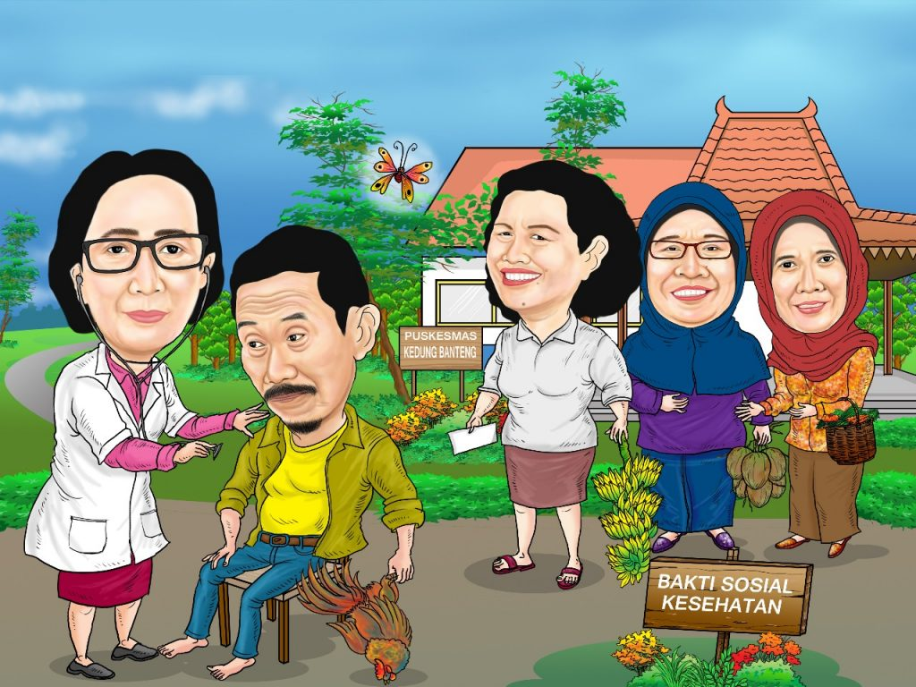 Karikatur Surabaya Lukis Wajah Karikatur Surabaya